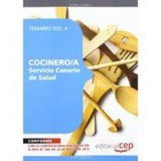 Portada de Cocinero/a Del Servicio Canario De Salud. Temario Vol. Ii.