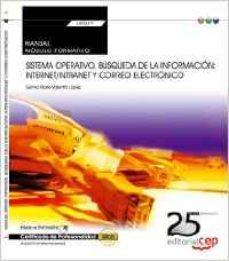Portada de (transversal: Uf0319) Manual. Sistema Operativo, Busqueda De La Informacion: Internet/intranet Y Correo Electronico .