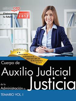 Portada de Cuerpo De Auxilio Judicial De La Administracion De Justicia: Temario (vol. I)