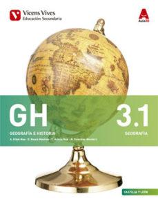 Portada de Geografia Historia 3º Eso 3.1 3.2 Bimestral (7 Temas) 16 Aragon / Asturias / Leon