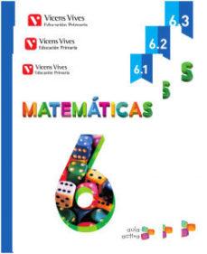 Portada de Matematicas 6º Educacion Primaria Trimestres Mec Ed 2015 Aula Activa
