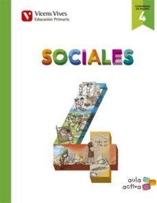 Portada de Sociales 4º Educacion Primaria  Madrid Ed 2015 Aula Activa