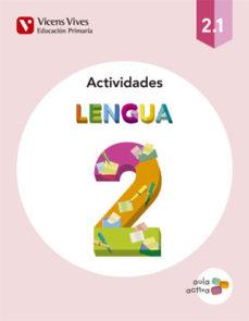 Portada de Cuaderno Lengua 2º Educacion Primaria Trimestres Ed 2015 Aula Activa