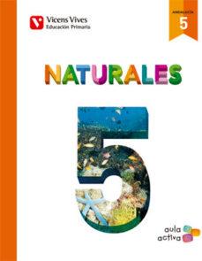 Portada de C.naturales 5º Primaria Trimestres Aula Activa Ed 2015 Andalucia