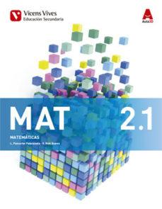 Portada de Matematicas 2º Eso Trimestral Aula 3d Ed 2016