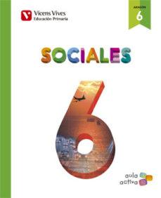 Portada de Ciencias Sociales 6º Educacion Primaria Aula Activa Ed 2016 Aragon