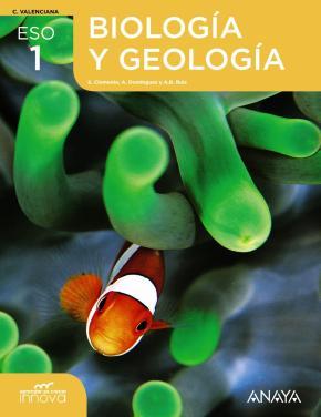 Portada de Biologia Geologia 1º Eso Valencia Aprender Crece R