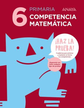 Portada de Competencia Matematica 6º Educacion Primaria