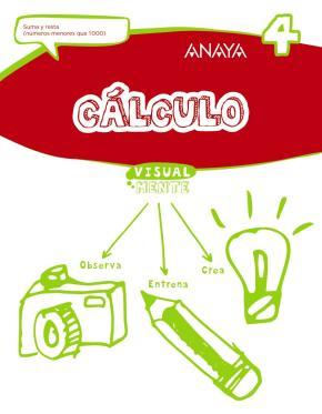 Portada de Calculo 4. 1º/ 2º Educacion Primaria Castellano Ed 2017 Mec