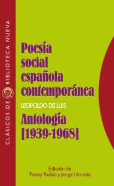 Portada de Poesia Social Española Contemporanea: Antologia (1939-1968)