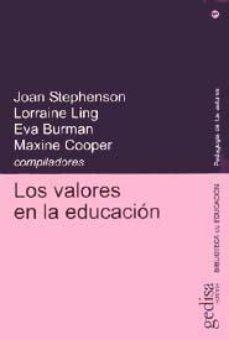 Portada de Los Valores En La Educacion