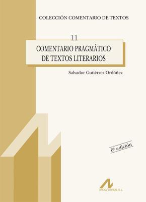 Portada de Comentario Pragmatico De Textos Literarios