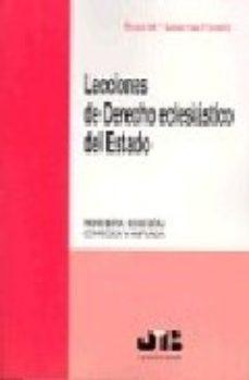 Portada de Lecciones De Derecho Eclesiastico Del Estado (3ª Ed.)