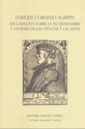 Portada de Enrique Cornelio Agrippa. Declamacion Sobre La Incertidumbre Y Vanidad De Las Ciencias Y Las Artes