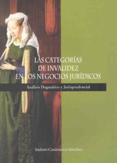Portada de Las Categorias De Invalidez En Los Negocios Juridicos: Analisis D Ogmatico Y Jurisprudencial