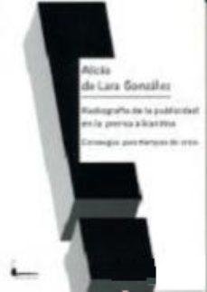 Portada de Radiografia De La Publicidad En La Prensa Alicantina