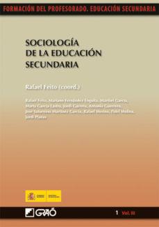 Portada de Sociologia De La Educacion Secundaria