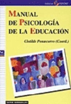 Portada de Manual De Psicologia De La Educacion