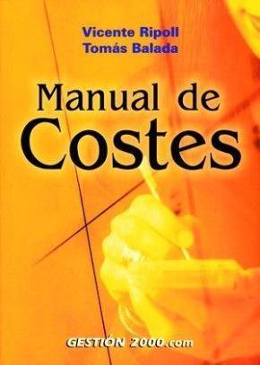 Portada de Manual De Costes (2ª Ed.)