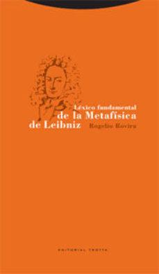 Portada de Lexico Fundamental De Metafisica De Leibniz