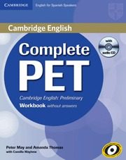 Portada de Complete Pet Workbook Without Answers With Audio Cd