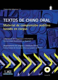 Portada de Textos De Chino Oral