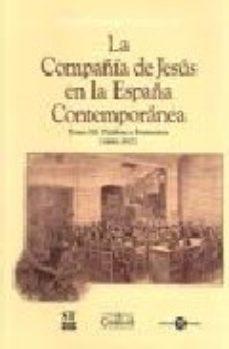 Portada de La Compañia De Jesus En La España Contemporanea Palabra Y Ferment Os (1868-1912)