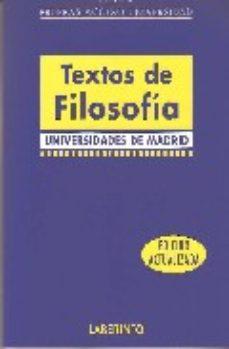 Portada de Textos De Filosofia Para La Pau: Universidades De Madrid: Pruebas Acceso Universidad
