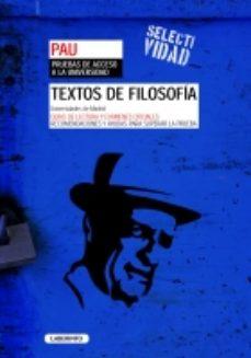 Portada de Textos De Filosofia Para La Pau (comunidad De Madrid) 2ºbachiller Filosofia