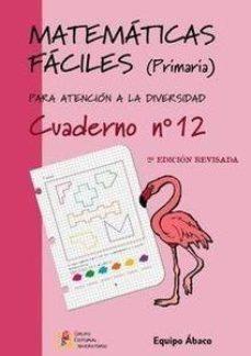 Portada de Matematicas Faciles Cuaderno Nº12 (primaria)