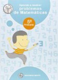 Portada de Aprendo Resolver Problemas Matematicas 5º Educacion Primaria