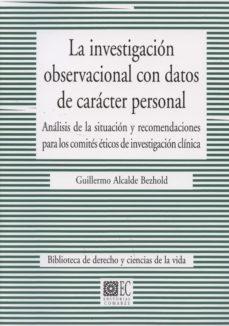 Portada de La Investigacion Observacional Con Datos De Caracter Personal