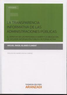 Portada de La Transparencia Informativa De Las Administraciones Publicas