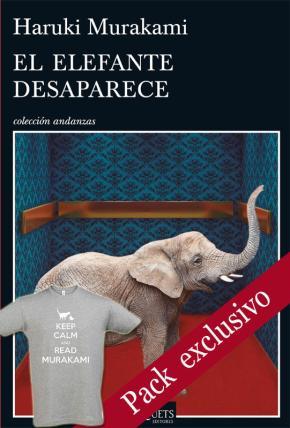 Portada de Pack Libro El Elefante Desaparece + Camiseta Keep Calm Murakami