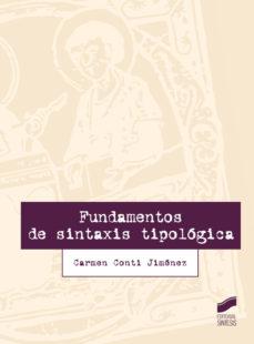 Portada de Fundamentos De Sintaxis Tipologia