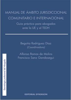 Portada de Manual De Ambito Jurisdiccional Comunitario E Internacional