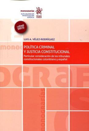 Portada de Politica Criminal Y Justicia Constitucional