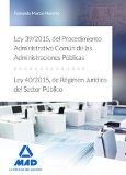 Portada de Ley 39/2015, Del Procedimiento Administrativo Comun De Las Administraciones Publicas, Y Ley 40/2015, De Regimen Juridico Del