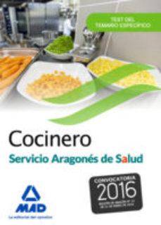 Portada de Cocinero Del Servicio Aragones De Salud. Test Del Temario Especifico