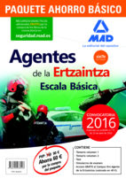 Portada de Paquete Ahorro Basico Agentes De La Ertzaintza Escala Basica (temario Volumenes 1 Y 2; Test; Simulacros De Examen; Acceso