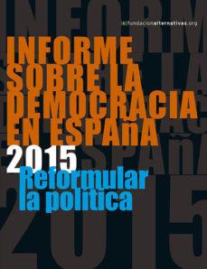 Portada de Informe Sobre La Democracia En España 2015