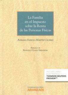 Portada de La Familia En El Impuesto Sobre La Renta De Las Personas Fisicas