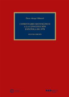 Portada de Comentario Sistematico A La Constitucion Española De 1978 (2ª Ed. )