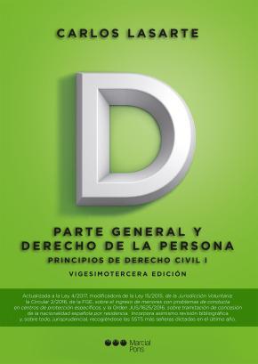 Portada de Principios De Derecho Civil Tomo I: Parte General Y Derecho De La Persona (23ª Ed)