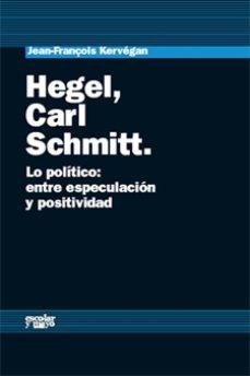 Portada de Hegel, Carl Schmitt