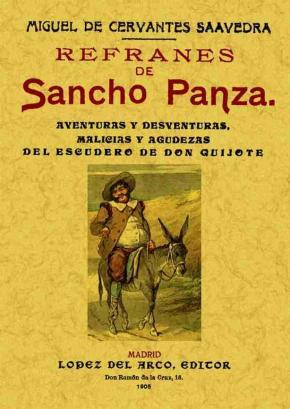 Portada de Refranes De Sancho Panza (ed. Facsimil De La Ed. De Madrid, 1905)