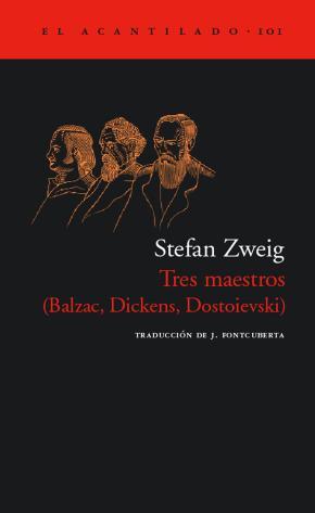 Portada de Tres Maestros (balzac, Dickens, Dostoievski)