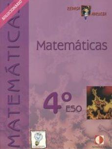 Portada de Matematicas 4º Eso. Solucionario