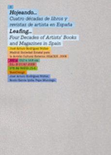 Portada de Hojeando…cuatro Decadas De Libros Y Revistas De Artistas En Esp Aña (edicion Bilingue Ingles-español)