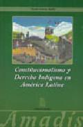 Portada de Constitucionalismo Y Derecho Indigena En America Latina